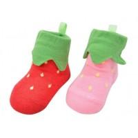 日本制 POMPKINS 草莓 立體襪子