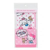 日本制 Sanrio Hello Kitty 腰包手帕套裝