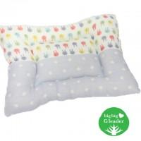 woofa BB/兒童枕頭 (粉藍色波點)