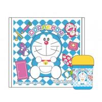 日本製 Doraemon湿毛巾容器set