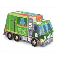 BOX puzzle 48piece Garbage Truck