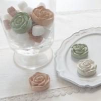 日本制 玫瑰花造型 珪藻土調濕劑組合