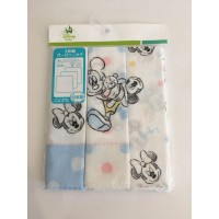 日本製 DISNEY 纱布手帕3set  MICKEY&MINNIE