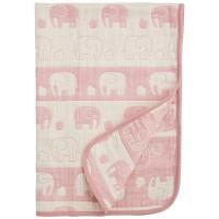 五重紗布 大象被仔 粉紅  50cm×60cm [日本製]