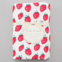 日本製mini 浴用紗布毛巾(草苺)
