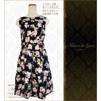 日本 Maison de Grace  日式親子連衣裙 - Marie Navy -【小朋友裝 ONLY】
