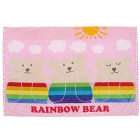 【made in Japan】Towel blanket 98×145cm rainbow bear