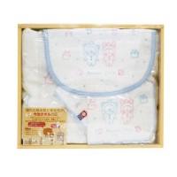 日本製anano cafe 今治纱布礼盒 粉藍色