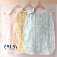 日本製 OVLOV 六重紗布睡袋 小星星