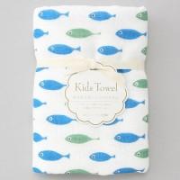 日本製mini 浴用紗布毛巾(魚)