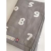 今治 SOU・SOU 数字 SO-SUーU 灰色(約60×115cm)