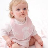 Cream 紗布口水肩 粉紅色風格