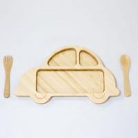 CAR'14 SET 日本竹制 車車餐具SET