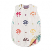 Hoppetta 六重紗布防踢睡袍 sleeper (蘑菇 S size)