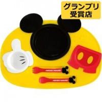 日本制 Disney Mickey 膠質開餐6件套裝