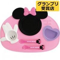 日本制 Disney Minnie 膠質開餐 6件套裝