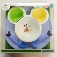 日本制 Disney Mickey BB碗子套裝 連餐盤